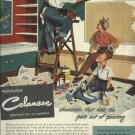 1950 Celanese full page ad  painting the classroom