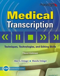 NEW Medical Transcription 3rd edition with CD  ISBN13: 9780763831097
