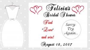 Bridal shower Scratch off cards