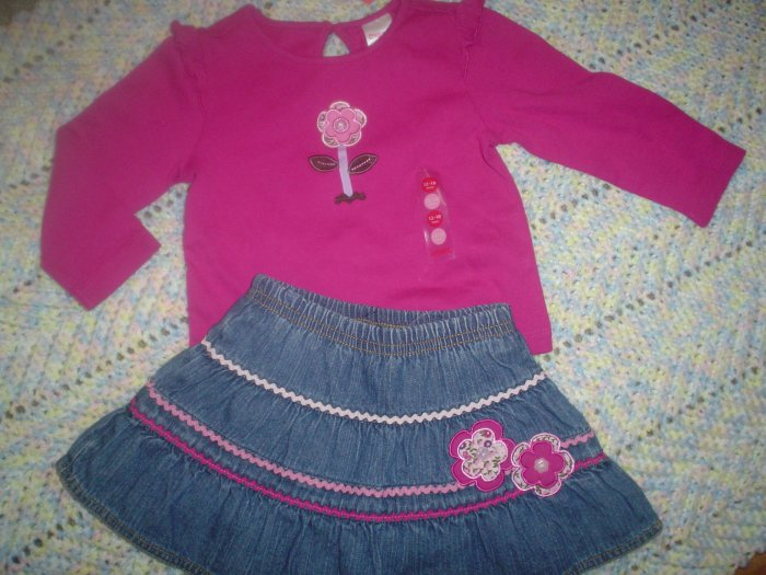 NWT gymboree 12-18 PRETTY IN PLUMS 2 pc RIC RAC outfit