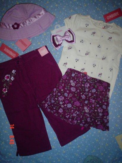 NWT gymboree 3 3T ROMANTIC GARDEN 5 pc GIFT set, outfit