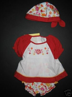 NWT gymboree 6-12 FIESTA FIESTA!  3 pc DRESS OUTFIT