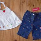 NWT gymboree 18-24 TUTTI FRUITY 2 pc HALTER, capris pants OUTFIT