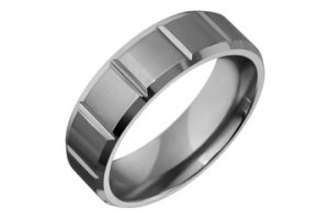 Flat Comfort Fit Square Shape Contour Titanium Ring!