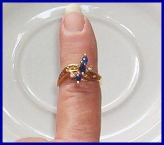 Sapphire & Diamond Filigree Ring HGE