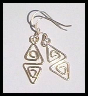 Geometric Silver Earrings... Dainty Dangles SALE!