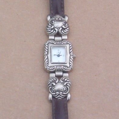Antique Silver Satin CANNE LADIES WRIST WATCH Heart Tips SALE