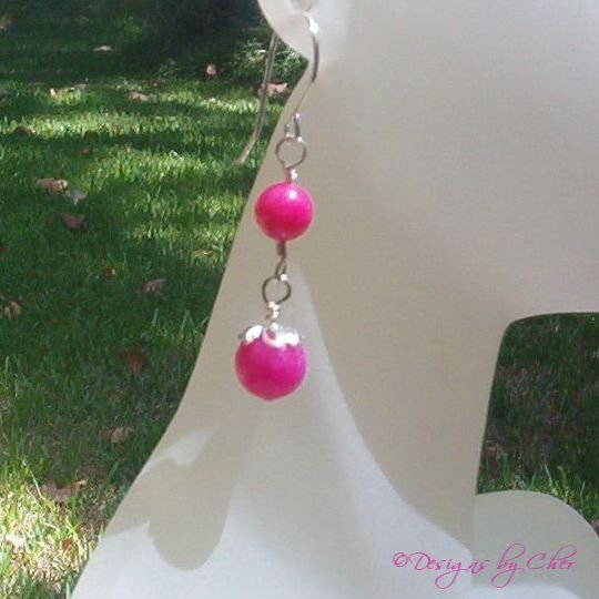 Sweet & Swingy Hot Pink Candy Jade, Matches Gumball Bracelet!