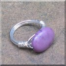 Purple Stone Ring, Wrapped in Sterling Silver, Size 8