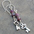 Keys to My Heart Earrings... Tourmaline Gemstones, Sterling Silver