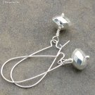 Silver Ice Earrings... Lightweight, Long Kidney Wires