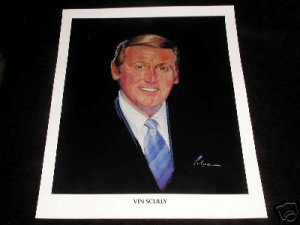 DODGERS BASEBALL VIN SCULLY HALL OF FAME AWARD POSTER