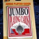 JUMBO EASY EYE POKER BLACKJACK CARD GAME PLAYING CARDS,