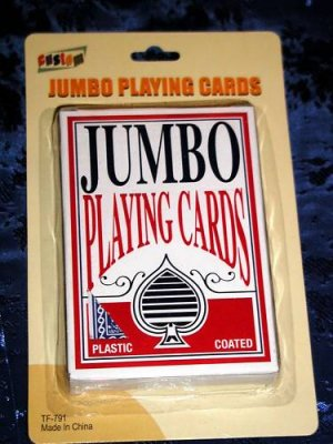 JUMBO EASY EYE POKER BLACKJACK CARD GAME PLAYING CARDS,