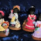 AFRICAN AMERICAN SUNDAY GIRLS 4 pc. BLACK CHILDREN SET