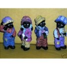 BLACK CHILDREN FIGURINE SET- BOYS & GIRLS STANDING TALL