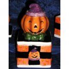 PUMPKIN JACK-O-LANTERN HALLOWEEN CERAMIC TRINKET BOX