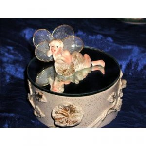 MAGIC FAIRY GARDEN FLOWER MIRROR TRINKET RING AND NECKLACE KEEPSAKE GIFT FANTASY ART JEWELRY BOX