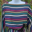 Vintage 80's Sasson Classic Secretary Stripe Dress 8/9 S