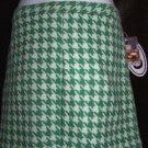Paul & Joe Wool Houndstooth Skirt Perfect Mint Green 13 NWT New