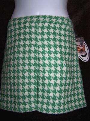 Paul & Joe Wool Houndstooth Skirt Perfect Mint Green 15 NWT New!