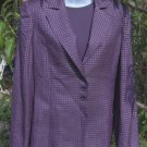 Carlisle 3 Piece Jacket Top Pants Suit Plum Purple Silk 0 4