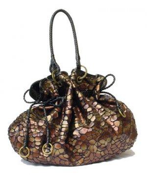 Hot Celebrity Drawstring Shoulder Tote Handbag