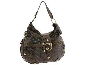 Hot Brown Leatherette Zipped Handbag