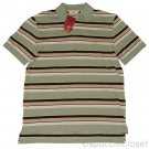 PENGUIN BY MUNSINGWEAR MENS PLAYBACK BUD GREEN STRIPE PIQUE POLO SHIRT M NEW NWT