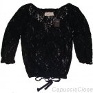 ABERCROMBIE & FITCH TAYLOR NAVY BLUE PRETTY LACE BLOUSE SHIRT TOP XS X-SMALL NWT