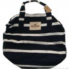 HOLLISTER CALIFORNIA CLASSIC SoCal DUFFLE TOTE BAG PURSE NAVY BLUE WHITE NEW NWT
