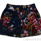 HOLLISTER CALIFORNIA BETTYS PIER VIEW BEACH NAVY FLORAL COTTON MINI SKIRT M NWT