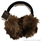 ABERCROMBIE & FITCH WOMENS CLASSIC COMFY NAVY BROWN FAUX FUR EAR MUFFS NWT $48