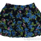 ABERCROMBIE & FITCH ISABELLE NAVY BLUE FLORAL TIERED RUFFLE MINI SKIRT L NEW NWT