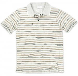 HURLEY MENS REVERSIBLE WHITE WASH STRIPE POLO SHIRT XL NEW NWT $58