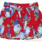 ABERCROMBIE & FITCH WOMENS KAYLIE RED FLORAL PRINT SASH BELT MINI SKIRT SZ S NWT