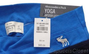 ABERCROMBIE &amp; FITCH WOMENS A&amp;F YOGA LEGGINGS PANTS NAVY BLUE XS X-SMALL NEW NWT