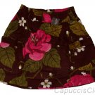 ABERCROMBIE & FITCH WOMENS MARIA BROWN BURGUNDY FLORAL PRINT MINI SKIRT SZ S NWT