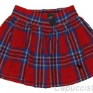 ABERCROMBIE & FITCH WOMENS BAILEY RED NAVY PLAID MINI SKIRT SZ M MEDIUM NEW NWT
