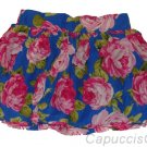 ABERCROMBIE & FITCH WOMENS ELSIE BLUE FLORAL PRINT MINI SKIRT SZ L LARGE NEW NWT