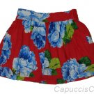 ABERCROMBIE & FITCH WOMENS KRISTEN RED FLORAL MINI SKIRT SZ L LARGE NEW NWT $68
