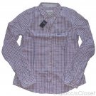 ABERCROMBIE & FITCH JANNA PINK NAVY WHITE PLAID BUTTON DOWN OXFORD SHIRT L NWT