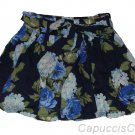 ABERCROMBIE & FITCH WOMENS KAYLIE BLUE FLORAL PRINT SASH BELT MINI SKIRT XS NWT