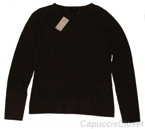 PHILOSOPHY DANE LEWIS CASHMERE CREWNECK SWEATER CHARCOAL GREY HEATHER L NWT $218