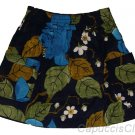 ABERCROMBIE & FITCH WOMENS MARIA NAVY BLUE FLORAL PRINT MINI SKIRT SZ M NEW NWT