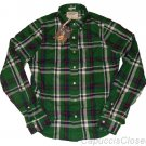 ABERCROMBIE & FITCH CASCADE LAKES GREEN PLAID BUTTON DOWN OXFORD SHIRT L NEW NWT