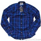 ABERCROMBIE & FITCH BIG SLIDE BLUE NAVY PLAID BUTTON DOWN OXFORD SHIRT XXL NWT