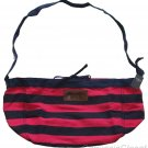 ABERCROMBIE & FITCH PINK NAVY STRIPE COTTON CANVAS TOTE BAG PURSE NEW NWT $70