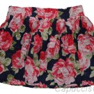 ABERCROMBIE & FITCH WOMENS KAYLIE NAVY FLORAL PRINT MINI SKIRT SZ L NEW NWT $68