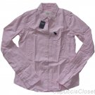 ABERCROMBIE & FITCH WOMENS FALLON PINK CHECK BUTTON DOWN OXFORD SHIRT S NEW NWT